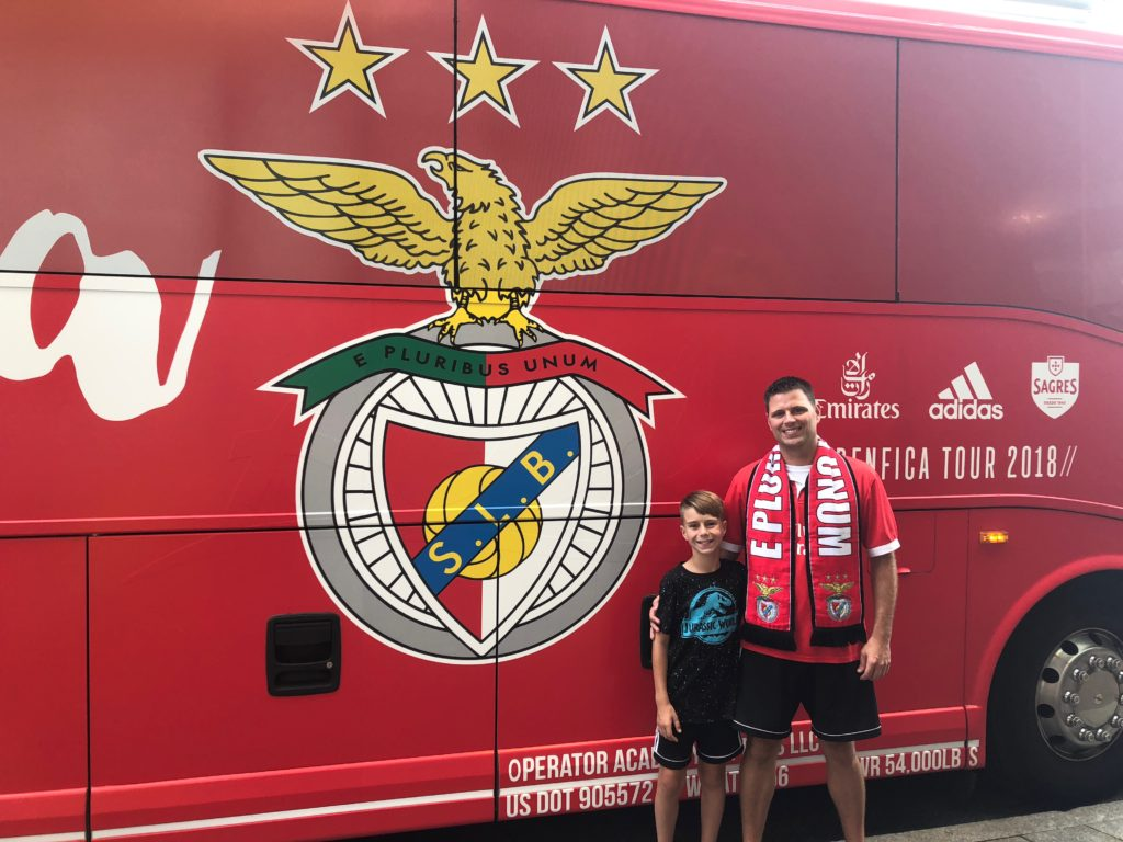 After meeting Benfica players and coaches